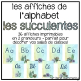 {Affiches de l'alphabet} Watercolour succulents alphabet posters