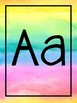 {Affiches de l'alphabet arc-en-ciel} Rainbow watercolour alphabet posters