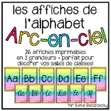 {Affiches de l'alphabet arc-en-ciel} Rainbow watercolour a
