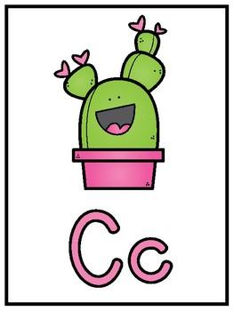 {Affiches de l'alphabet cactus} Cactus alphabet posters