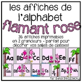{Affiches de l'alphabet flamant rose} Pink flamingo alphab