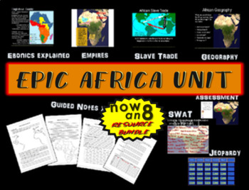 * Africa Unit (ALL 4 PARTS) Highly engaging, visual, interactive 72-slide PPT
