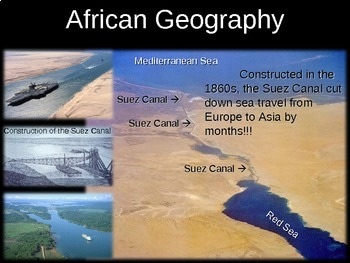 * Africa Unit (PART 1: GEOGRAPHY) engaging, visual, interactive 72-slide PPT