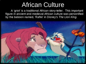 * Africa Unit (PART 2: CULTURE) engaging, visual, interactive 72-slide PPT