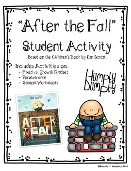 """""""After The Fall"""" Humpty Dumpty Student Activity (Fixed vs. Growth Mindset)"""