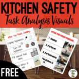 """After you finish cooking..."" Kitchen Safety Task Analysis Visual Life Skills"