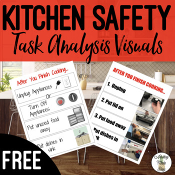 """""""After you finish cooking..."""" Kitchen Safety Task Analysis Visual Life Skills"""