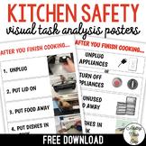 Kitchen Safety Task Analysis Visuals