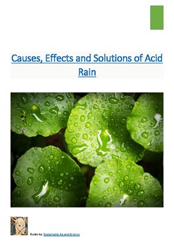 (Agriculture) Causes, Effects and Solutions to Acid Rain- Reading Guide