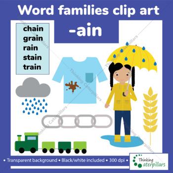 -Ain Word families clip art
