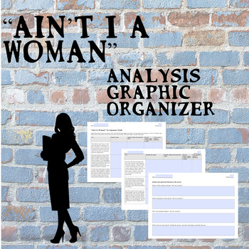 """""""Ain't I a Woman"""" Text Analysis and Graphic Organizer--Digital Ready!"""