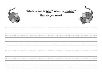 """""""Alexander and The Wind Up Mouse"""" - Living and Nonliving Compare and Contrast"""