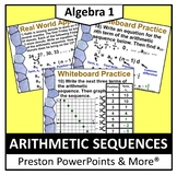 (Alg 1) Arithmetic Sequences in a PowerPoint Presentation