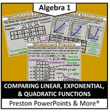 (Alg 1) Comparing Linear, Exponential, and Quadratic Functions in a PowerPoint