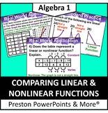 (Alg 1) Comparing Linear and Nonlinear Functions in a PowerPoint Presentation