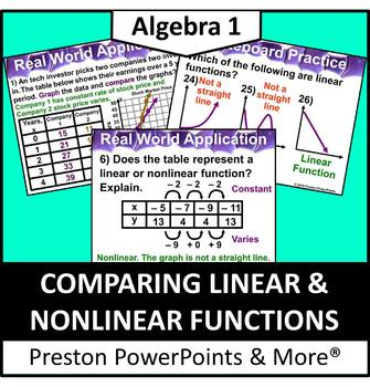 (Alg 1) Comparing Linear and Nonlinear Functions in a Powe