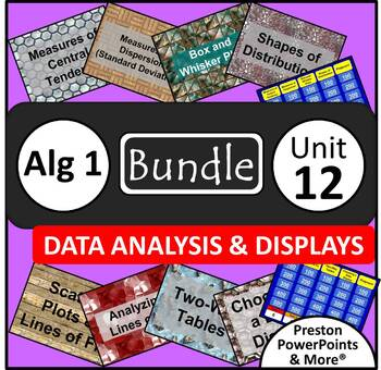 (Alg 1) Data Analysis and Displays {Bundle} in a PowerPoint Presentation