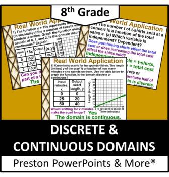 (Alg 1) Discrete and Continuous Domains in a PowerPoint Pr