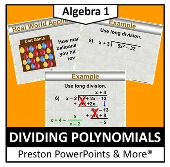 (Alg 1) Dividing Polynomials in a PowerPoint Presentation