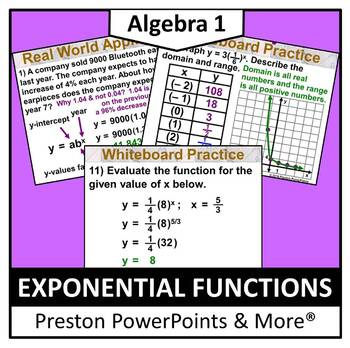(Alg 1) Exponential Functions in a PowerPoint Presentation