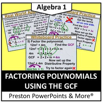 (Alg 1) Factoring Polynomials Using the GCF in a PowerPoint Presentation