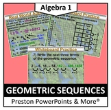 (Alg 1) Geometric Sequences in a PowerPoint Presentation