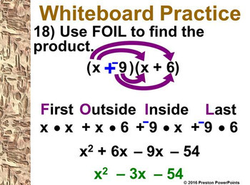 (Alg 1) Multiplying Polynomials in a PowerPoint Presentation
