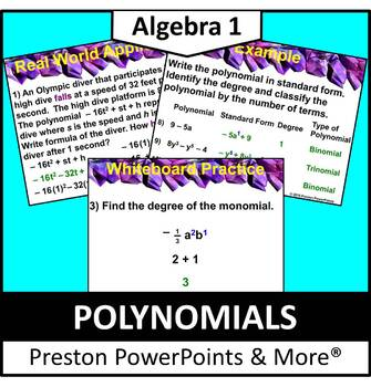 (Alg 1) Polynomials in a PowerPoint Presentation
