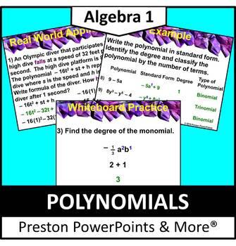 (Alg 1) Polynomials in a PowerPoint Presentation