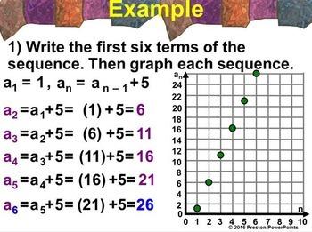 (Alg 1) Recursive Sequences in a PowerPoint Presentation
