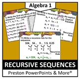 (Alg 1) Recursive Sequences in a PowerPoint Presentation