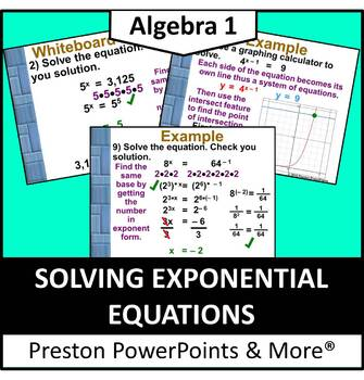 (Alg 1) Solving Exponential Equations in a PowerPoint Pres