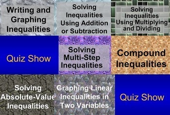 (Alg 1) Solving Linear Inequalities {Bundle} in a PowerPoint Presentation