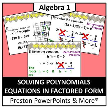 (Alg 1) Solving Polynomial Equations in Factored Form in a