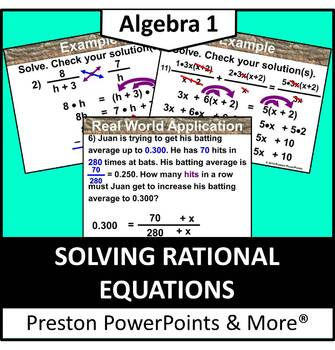 (Alg 1) Solving Rational Equations in a PowerPoint Presentation