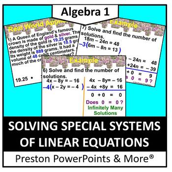 (Alg 1) Solving Special Systems of Linear Equations in a PowerPoint