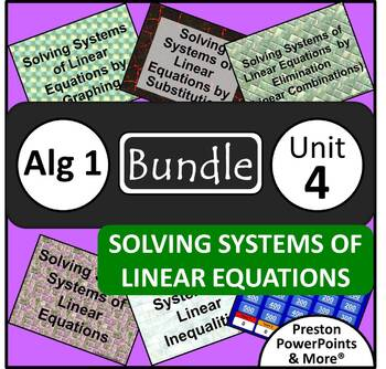 (Alg 1) Solving Systems of Linear Equations {Bundle} in PowerPoint Presentation
