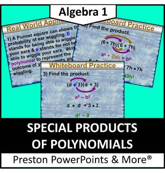 (Alg 1) Special Products of Polynomials in a PowerPoint Presentation