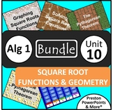 (Alg 1) Square Root Functions and Geometry {Bundle} in a PowerPoint Presentation