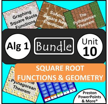 (Alg 1) Square Root Functions and Geometry {Bundle} in a P