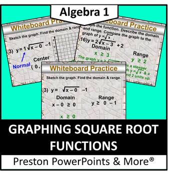(Alg 1) Graphing Square Root Functions in a PowerPoint Pre