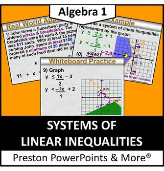 (Alg 1) Systems of Linear Inequalities in a PowerPoint Presentation