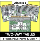 (Alg 1) Two-Way Tables in a PowerPoint Presentation