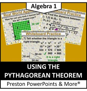 (Alg 1) Using the Pythagorean Theorem in a PowerPoint Presentation