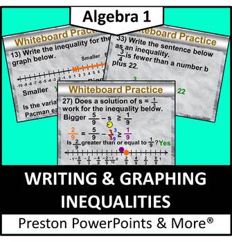 (Alg 1) Writing and Graphing Inequalities in a PowerPoint