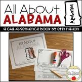 """All About Alabama"" a cut-a-sentence book"