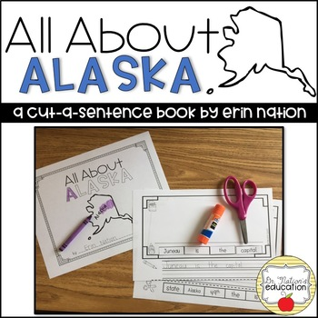 """All About Alaska"" a cut-a-sentence book"