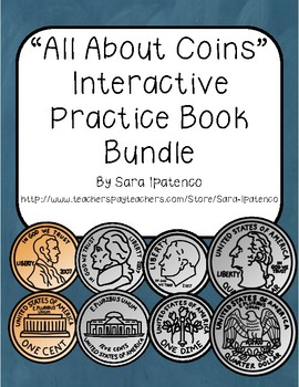 """All About Coins"" Interactive Practice Book Bundle"