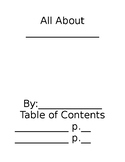 """All About"" Cover & Table of Contents"