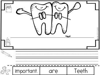 """All About Dental Health"" a cut-a-sentence book"
